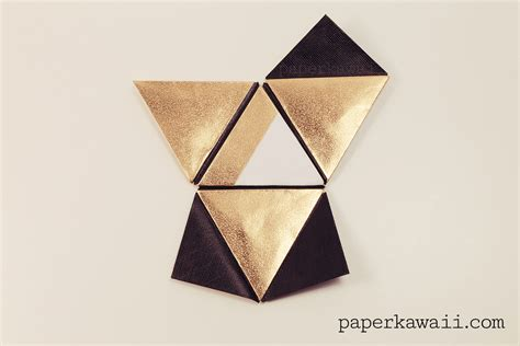 Cool Origami Stuff - modular origami pyramid box tutorial paper kawaii