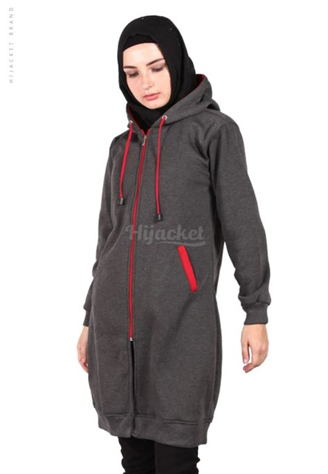Jaket Wanita Muslimah Hijacket Basic Hj6 All Size jaket hijaber basic hijacket hj6 jaket