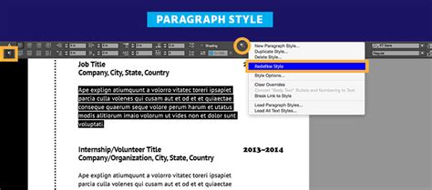 Create A Resume In Indesign by Create A Professional Resume Adobe Indesign Cc Tutorials