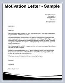 Sle Of A Motivational Letter For A Application by Motivation Letter Vitae