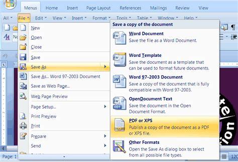 how to save a word doc as a pdf