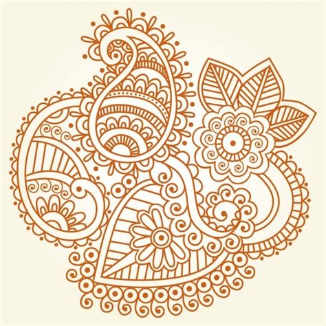 henna pattern vector indian henna ornament vector free download