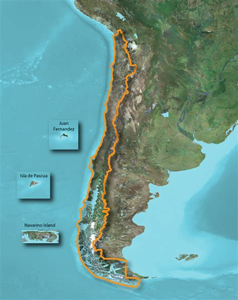 physical map of chile topo chile deluxe garmin