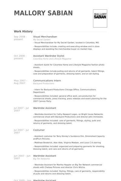 Visual Merchandising Resume by Visual Merchandiser Resume Exle
