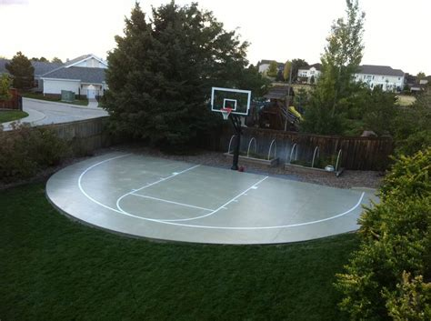 finally the construction of the backyard basketball court