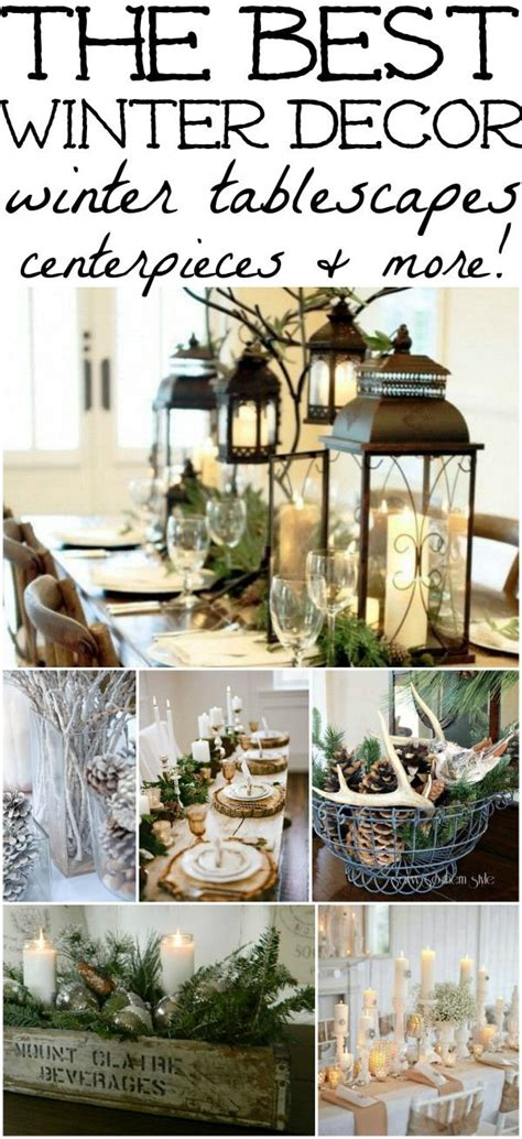 winter decorations winter table ideas more for the