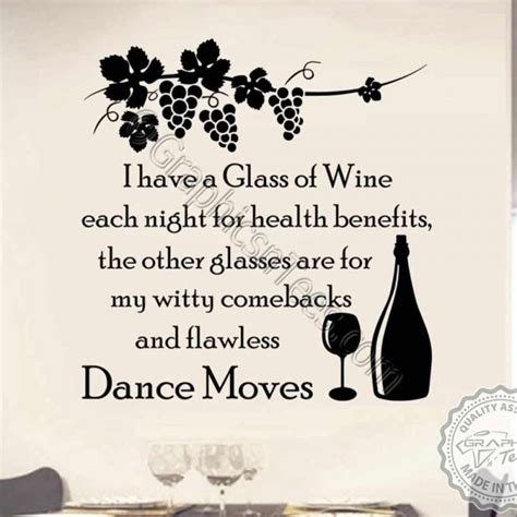 Kitchen Wall Stickers Quotes funny kitchen dining room wall sticker i drink wine quote