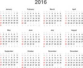 C2016 Calendar Clipart Calendar 2016