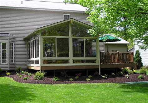 4 season sunroom with deck the change up pinterest