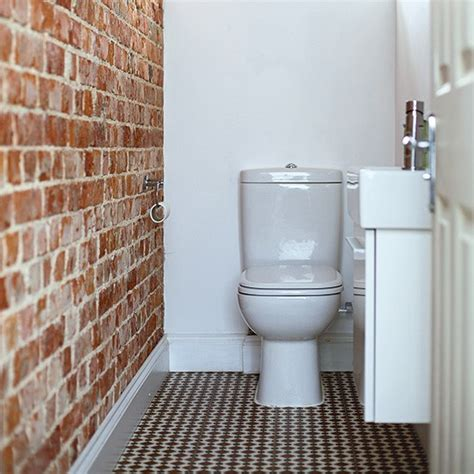 cloakroom bathroom ideas cloakroom with white fixtures and original brick wall
