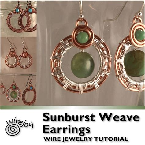 wire work secrets jewelry tutorials sunburst weave earrings wire work