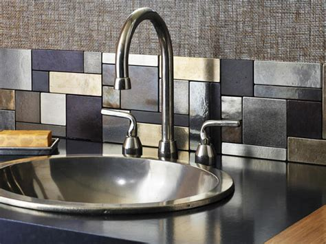 aluminum backsplash kitchen kitchen backsplashes that resemble artwork