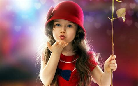 little girls little girl blowing a kiss cute hd 4k wallpapers