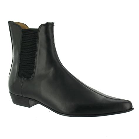 tuk c2034 mens leather chelsea boots black formal