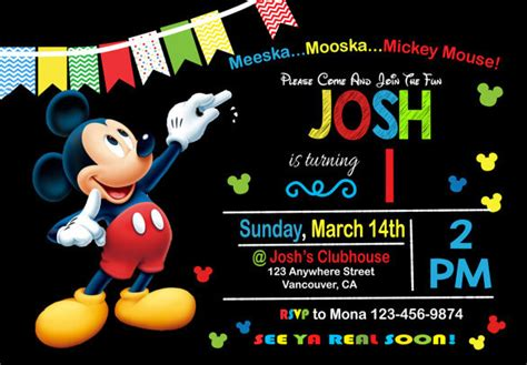 mickey mouse clubhouse invitation template mickey mouse clubhouse birthday invitation wording alesi