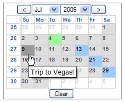 Epoch Calendar Javascript Calendar For Ajax Developers