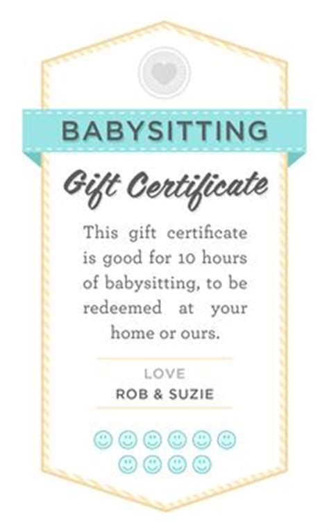 printable vouchers baby printable babysitting coupons free baby sitting voucher