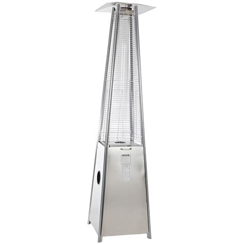 Pyramid Flame Heater Stainless Steel 277401 Fire Pits Pyramid Patio Heater