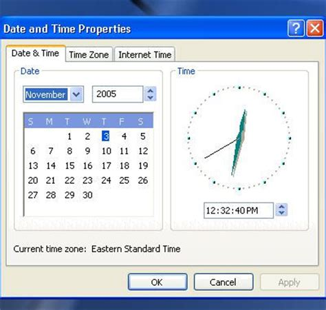 change the date and time zone on windows laptop