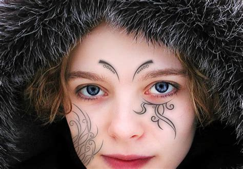 30 interesting face tattoos creativefan