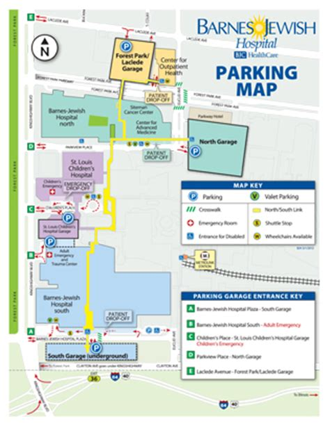 Barnes Hospital Map parking information directions and maps patients visitors barnes hospital