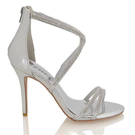 High Heels Gareu Shoes G 5111 womens stiletto high heel diamante strappy bridal sandals shoes ebay