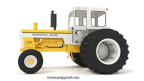 minneapolis moline  tractor  model polygonish store