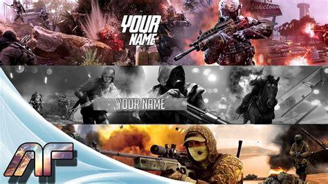 call of duty banner template fresh gaming youtube banner maker