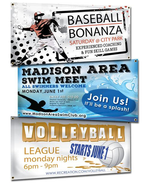 sports banner templates banners summer sports banners
