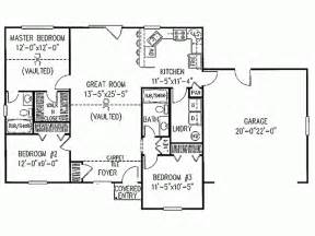 Simple 3 Bedroom House Plans Simple Ranch House Plans Smalltowndjs