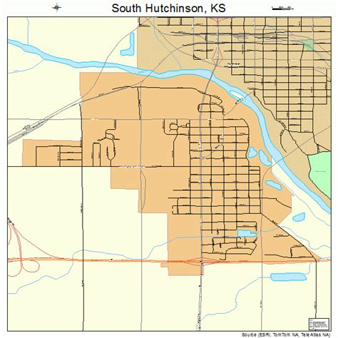 Hutchinson Ks South Hutchinson Kansas Map 2066750