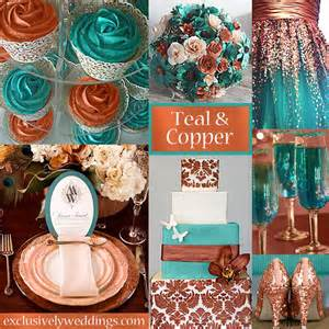 teal wedding colors newest metallic wedding trend is copper weddingdash
