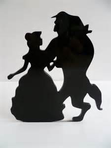 and beast silhouette silhouette cake topper decoration and the beast