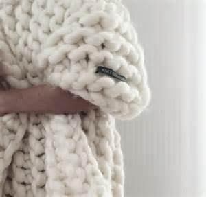 chunky knit blanket merino wool blanket 5070