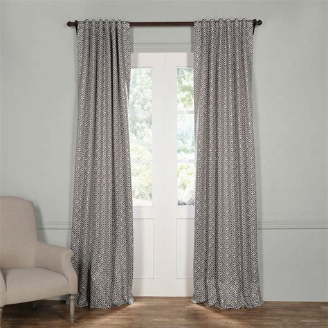 linen tab curtains home decorators collection taupe faux linen back tab