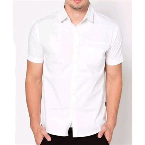 baju formal pendek putih polos kemeja formal pria baju