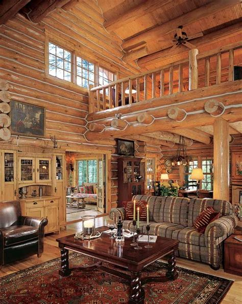log cabin great room cabins pinterest