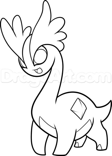 pokemon coloring pages amaura how to draw amaura from pokemon step by step pokemon