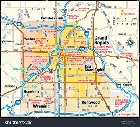 grand map area map of grand rapids mi my