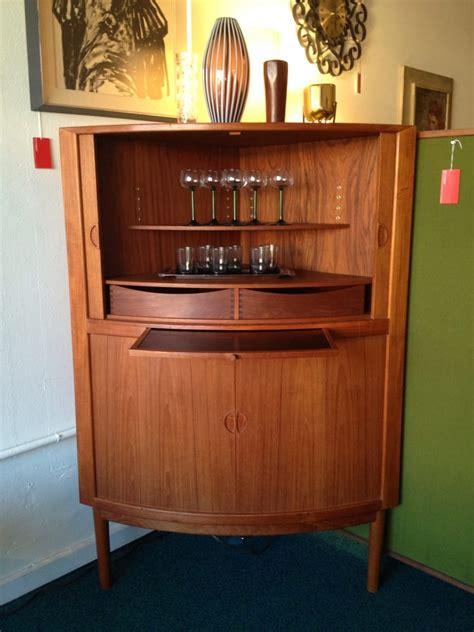 Kitchen Cabinets Portland mid century danish corner bar cabinet with tambour doors