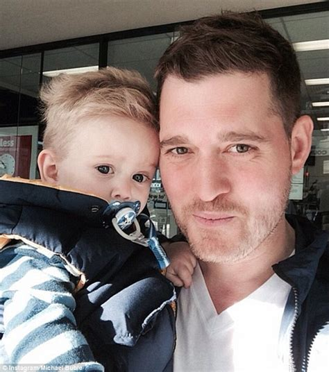 michael buble instagram michael buble takes his adorable son noah for a walk in