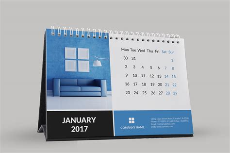 Corporate Desk Calendar 2017 On Behance Corporate Calendar Template