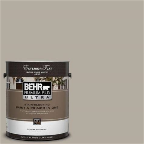 home depot behr exterior paint behr premium plus ultra 1 gal ul260 8 taupe flat