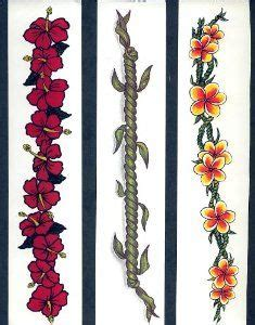 maile lei tattoo designs temporary floral hawaiian tattoos assorted set of 3 by