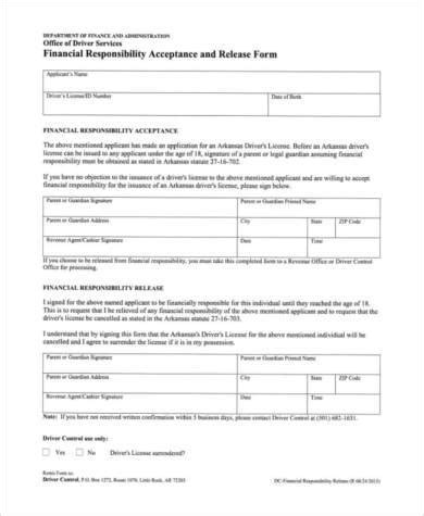 Financial Responsibility Letter Template release of financial responsibility colorado dmv
