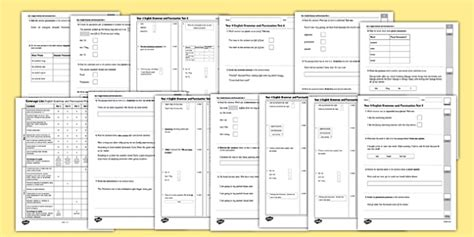 Book Update Part Iii Recipe Testing 2 by Year 4 Grammar And Punctuation Practice Test Pack