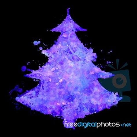 fluorescent christmas tree stock image royalty free
