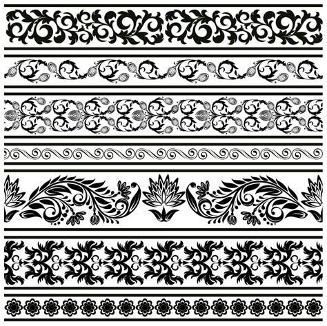 lace pattern logo classic lace pattern template vector 2 vector sources