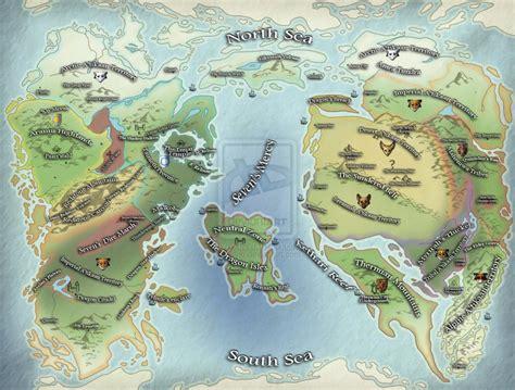 ice age world map  kalnu  deviantart
