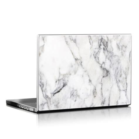 laptop skin laptop skin white marble by marble collection decalgirl
